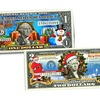 Merry Christmas Keepsake Gift Colorized $1 or $2 Bills