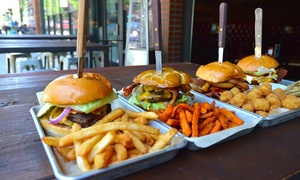 Barwest: Burger or Wing Meal with Soft Drinks or Beer for Two at Barwest (Up to 40% Off)
