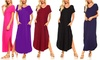 Isaac Liev Women's Maxi Dress with Pockets. Plus Sizes Available