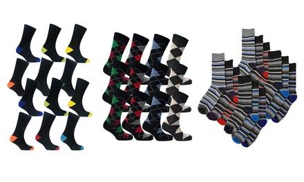 12Pack of Men's CottonRich Design Socks