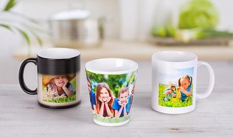 1, 2  o 3 foto-tazas a color, latte o mágicas con imagen personalizable con Colorland (hasta 79% de descuento)