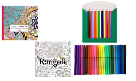 Rangoli Adult Colouring Book from AED 49 (Up to 9% Off)