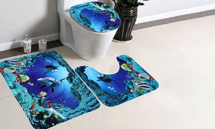 Vivo Dolphin Bathroom Mat Set