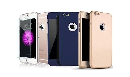 Protection Totale : Coque + Verre trempée pour iPhone. Livraison offerte