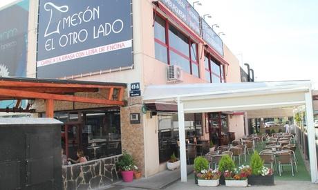 Menú para 2, 4 o 6 personas con raciones, parrillada mixta, postre o café y bebida desde 24,99 € en Mesón El Otro Lado