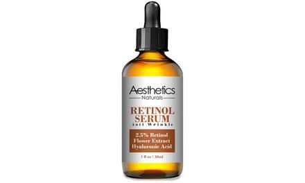 Aesthetics 2.5% Retinol Anti-Wrinkle Hyaluronic Serum (1 or 2-Pack)