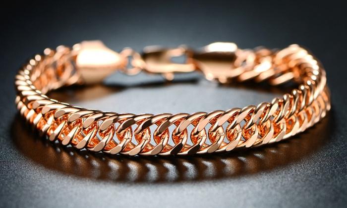 7db14926c Up To 68% Off on 18K Rose Gold Bracelet by Sevil | Groupon Goods