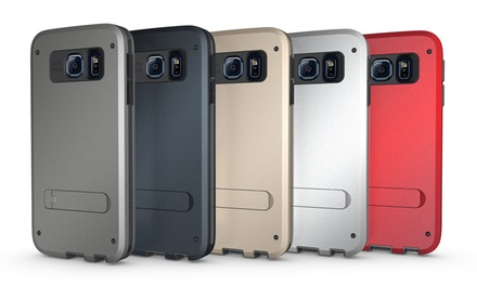 3D Luxe Samsung Galaxy S6 Three Layer Protection Kickstand Case