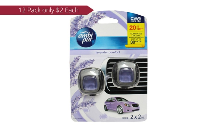 Groupon Goods: $24 for 12 Ambi Pur Car Air Freshener Lavender Comfort 2ml (Don't Pay $71.88)