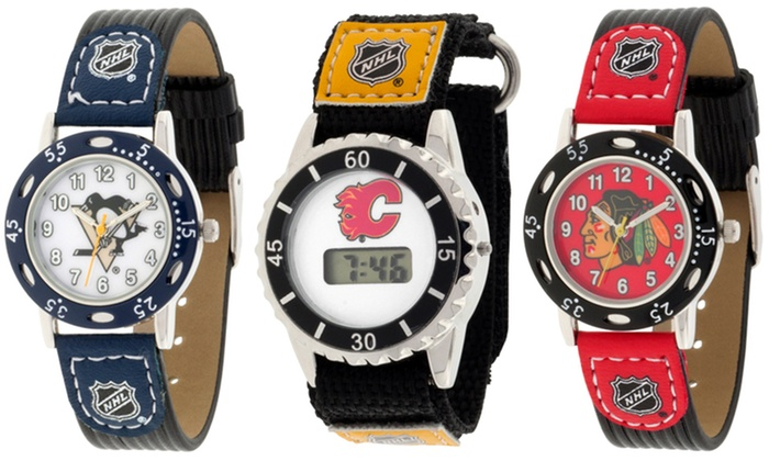 Groupon Goods: Analog or Digital Kids' Watch with a NHL Team Logo (Shipping Included)