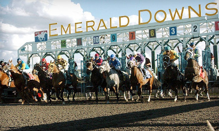 Emerald Downs - Auburn: $10 for a Horseracing Package with Souvenir Program and Food Voucher at Emerald Downs in Auburn (Up to $19.50 Value)