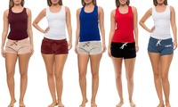 Coco Limon Lounge Velour or French Terry Shorts and Tank Top Sets (4-Piece)