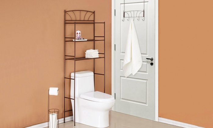 3 Piece Bathroom Storage Set Groupon Goods