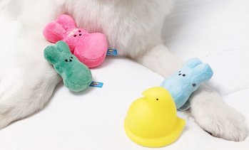 Peeps for Pets Plush & Vinyl Squeaky Toys for Dogs (3-, 4- or 6-Pack)