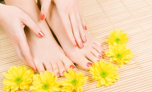 Shellac Mani-pedi Or Spa Mani-pedi With Optional Shellac Polish At Touch Of Beauty Salon & Day Spa (up To 53% Off