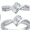 Diamond Two-Stone Ring by Brilliant Diamond