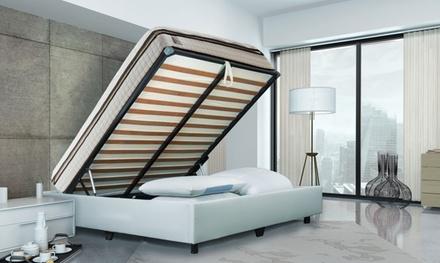 jusqu 39 73 lit coffre simili cuir ou tissu groupon. Black Bedroom Furniture Sets. Home Design Ideas