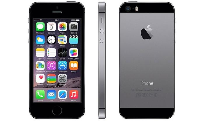 apple iphone 5s 16 32 ou 64 go groupon. Black Bedroom Furniture Sets. Home Design Ideas