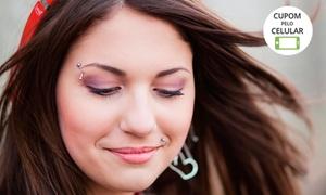 Espaço da Beleza Patrícia Reis: Espaço da Beleza Patrícia Reis – Guará: piercing em aço cirúrgico + aplicação
