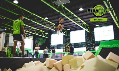 image for One- or Two-Hour Jumping Session for Up to Four at Flip Out Rochdale (Up to 35% Off)