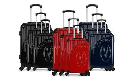 Set di 3 trolley Osaka Vertigo in ABS e policarbonato con 4 ruote girevoli disponibile in 4 colori