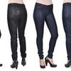 Tractr Women's Pattern Design Jeans