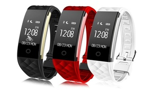S2 Smart Bracelet Fitness Tracker with Cycling Mode Music Camera