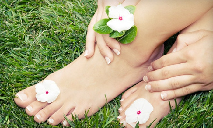 Luminous Spa Studio - San Carlos: One or Three Shellac Mani-Pedis at Luminous Spa Studio (Up to 61% Off)