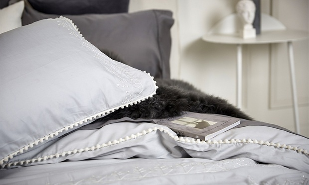 Embroidered Quilt Cover Set: Queen ($79), King ($89) or Super King ($99) (Dont Pay up to $229.95)