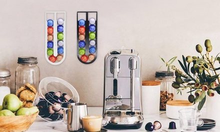 Self-Adhesive Nespresso Capsule-Compatible Organiser Storage: One ($12.95) or Two ($19)