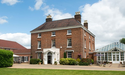 Shropshire: 1 or 2 Nights for Two with Breakfast and Optional Wine and AA Rosette Dinner at 4* Hadley Park House