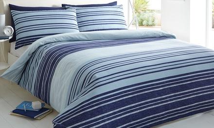 Textured Stripe Duvet Cover Set