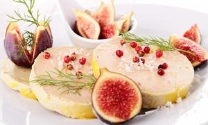 La Sterne: Menu dégustation avec mise en bouche, entrée, plat, café et mignardises pour 2 ou 4 convives dès 59,90 € à La Sterne