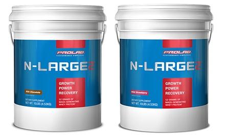 Prolab Chocolate or Strawberry Protein Powder N-Large 2 (10lb. Tub)