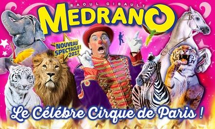 1 place en tribune dhonneur pour lune des représentations du cirque Medrano à 10 € à Nice