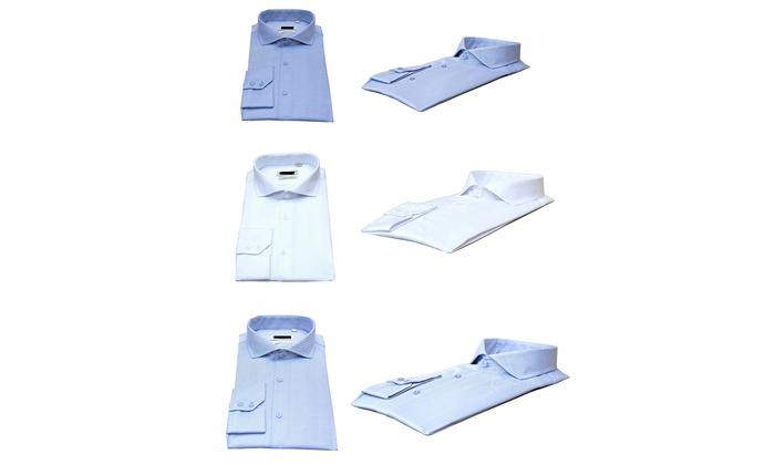 3 camicie uomo taglio sartoriale