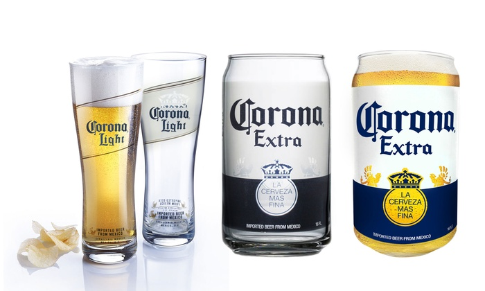 Corona beer glasses 4 pack groupon goods for How to make corona glasses