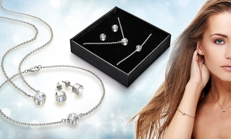 Set de joyería decorada con cristales de Swarovski®