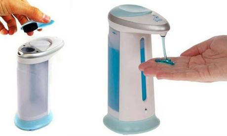 Dispenser per sapone liquido Bakaji da 400 ml, con sensore