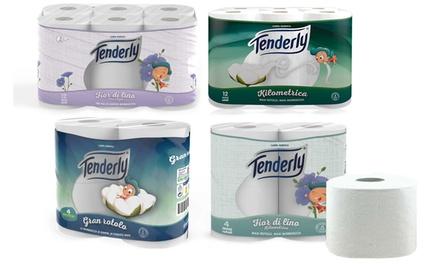 72x Rotoli di carta igienica Tenderly: Fior di lino
