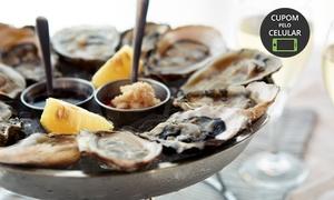 Bar Açores: Bar Açores – Santo Antônio de Lisboa: sequência de ostras e vinho para 2 ou 4 pessoas