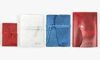Monogram Online Custom Genuine Rustic Leather-Bound Mini Journal (Multiple Colors)