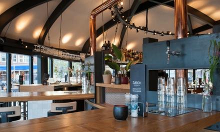 Mercatorplein: 2 tot 4 liter bier aan de taptafel incl. borrelplatters naar keuze bij Cafe Zurich in AmsterdamWest