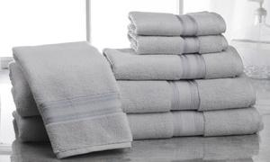 Super Absorb 100% Zero Twist Cotton Bath Towel Set (6-Piece)