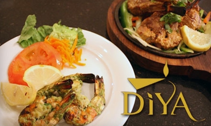 Diya Restaurant, Lounge & Banquet - Tysons Corner: $15 for $30 Worth of Indian Cuisine and Drinks at Diya in Vienna