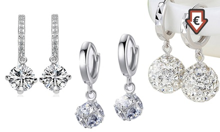 1x oder 3x Ohrringe mit Van Amstel Kristallen in Modellen Lyah, Anu oder Phyphy