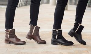 Boots en cuir fourrées Redfoot