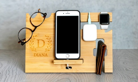 Personalized Cell Phone Charging Stations and Desk Organizer from Qualtry (Up to 57% Off). 4 Options Available.