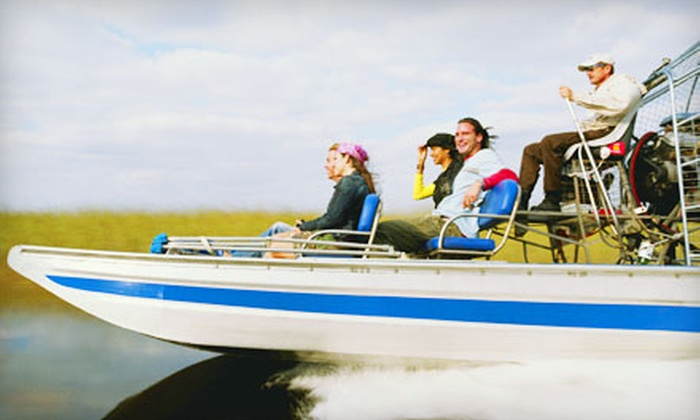 Everglades Holiday Park - Southwest Ranches: Airboat Tour of the Everglades and an Alligator Show for Two or a Private Airboat Tour for Four from Everglades Holiday Park