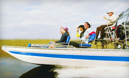 1-Hour Air Boat Tour and Tickets to a Live Alligator Presentation for 2 (a $47 value) - Everglades Holiday Park in Fort Lauderdale